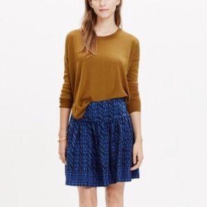 Madewell Silk Skyline Skirt in Indigo & Black